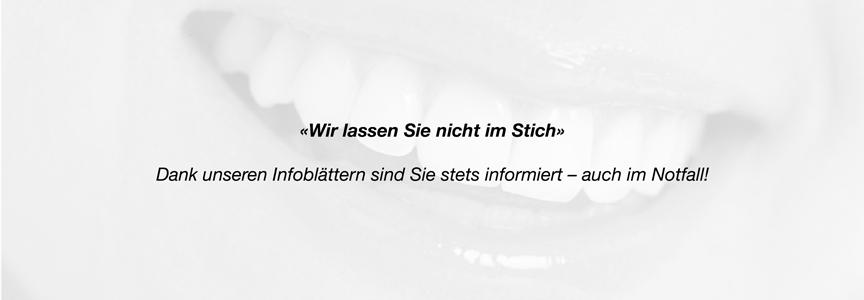 Informationen kieferorthopädische Behandlung und Zahnspangen Praxis Menzel Thun
