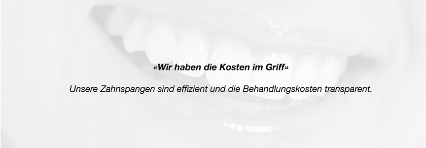 Kosten Zahnspange kieferorthopädische Behandlung in Thun
