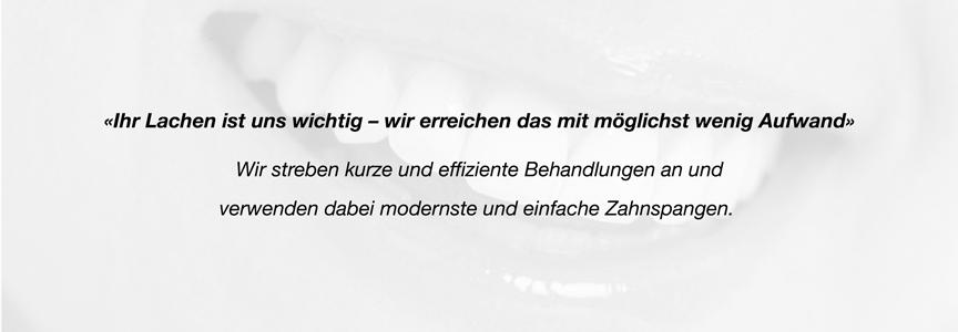 Philosophie Kieferorthopädie Menzel Behandlung mit Zahnspangen in Thun
