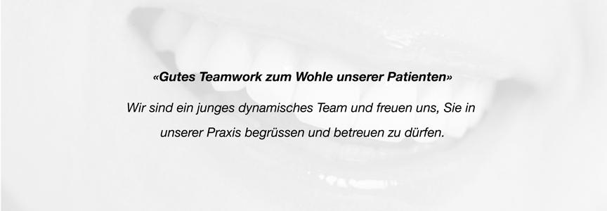 Teamwork Praxis Kieferorthopädie Menzel Thun